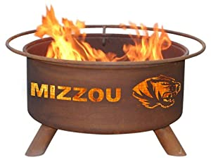 Missouri Tigers Mizzou Portable Steel Fire Pit Grill by Patina