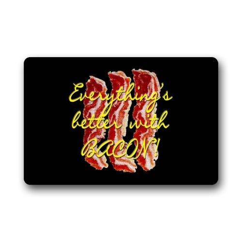 Door Mat Bacon Meat With Funny Saying & Quotes Doormat Rug Indoor/Outdoor/Front Door/Bathroom Mats Floor Mat 23.6inch X 15.7inch