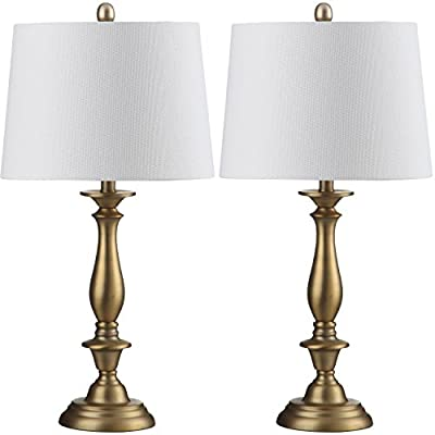Safavieh Lighting Collection Brighton Candlestick Gold 29-inch Table Lamp (Set of 2)