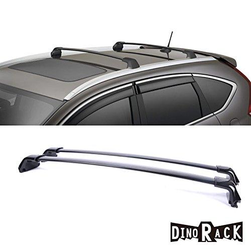 DINORACK 2pcs Fit 12-14 Honda CR-V OE Style Black Aluminum Roof Rack Cross Bars Luggage Cargo Carrier Rails (Honda Crv 2014 Cross Bars compare prices)