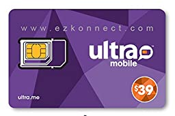 Ultra Mobile triple punch Regular, Micro and Nano all in one SIM Card + $39 Plan free