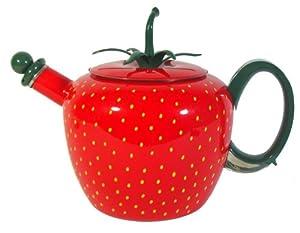 Copco Strawberry 2-1 2-Quart Enamel on Steel Teakettle by Copco