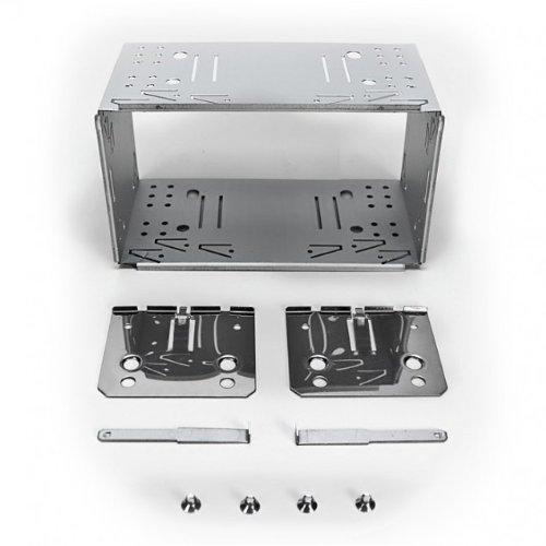 Clarion-BKX-001-Doppel-DIN-EINBAURAHMEN-EINBAUSCHACHT-aus-Metall-Komplett-Set-inkl-4-Schrauben-2-Befestigungsplatten-2-Ausziehschlsseln