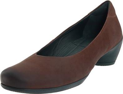 (大牌)ECCO爱步Sculptured Pump女式真皮低帮休闲鞋$71.96 原价129.95 Dioptase