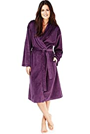 Per Una Shawl Collar Faux Snakeskin Print Cosy Dressing Gown