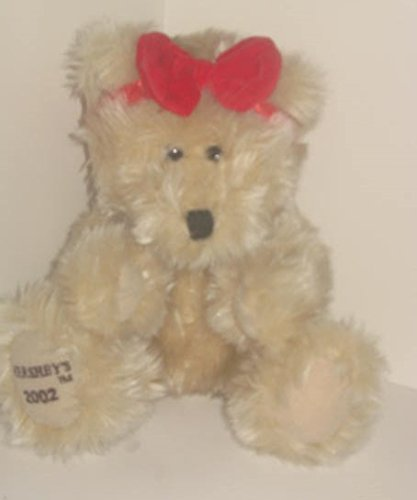 "2002 Hershey's Teddy Bear Plush Stuffed Animal with Embroidered Paw 8"" Sitting"