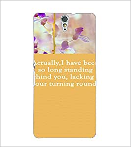 PrintDhaba Quote D-3722 Back Case Cover for SONY XPERIA C5 ULTRA (Multi-Coloured)