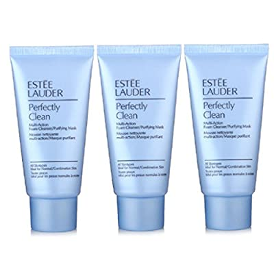 Estee Lauder Perfectly Clean Multi-Action Foam Cleanser/ Purifying Mask 150ml/5oz (3Pack of 50ml/1.7oz Tubes)