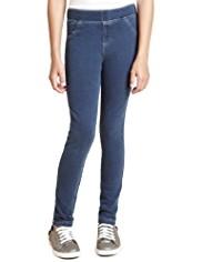 Cotton Rich Plain Denim Jeggings