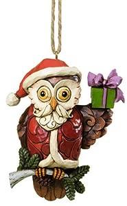 Jim Shore for Enesco Heartwood Creek Christmas Owl Ornament, 3.875-Incg