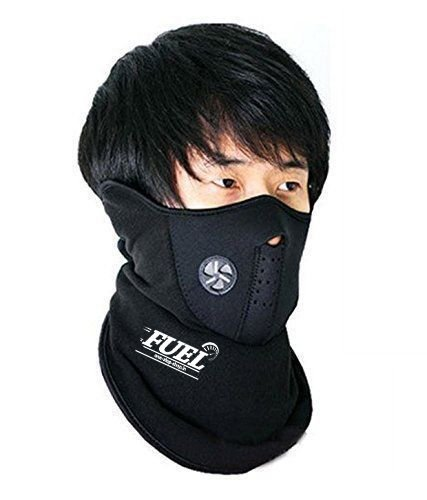 FUEL Neoprene Face Mask For Bikers/Cyclist XL Size- Black (Set Of 3)