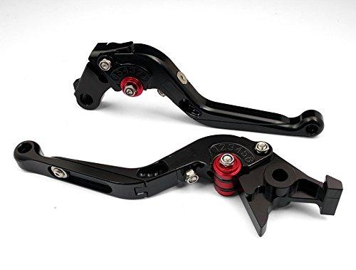 Motorcycle Dirt Bike Cnc Billet Sport Adjustable Foldable Brake & Clutch Levers Set Black For Honda Rc51 Rvt1000 Sp-1/Sp-2 2000 2001 2002 2003 2004 2005 2006 (H-33/F-29)