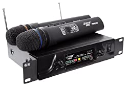 PylePro - Dual UHF Wireless Microphone System - PDWM2600