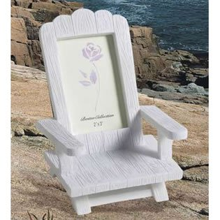 Beach Place Card Frame Wedding Favors - Miniature Adirondack Chairs, 12