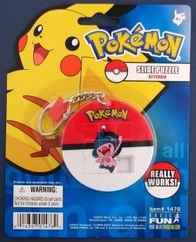 Pokemon Slide Puzzle Keychain -- Mime Jr. - 1