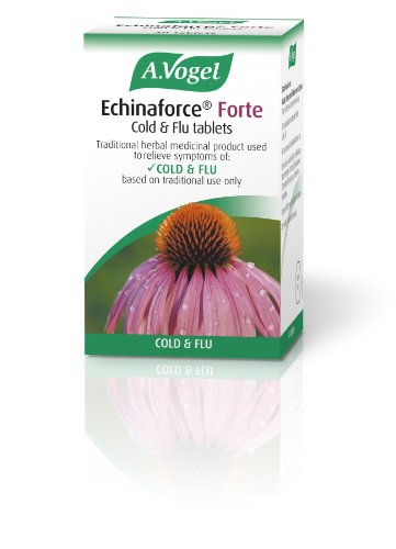 A Vogel 750 mg Echinaforce Forte Cold and Flu 40 Tablets