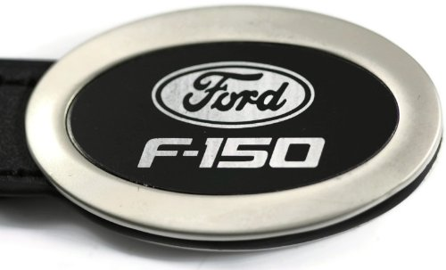 Ford F150 Keychain Ford F150 Black Oval Leather