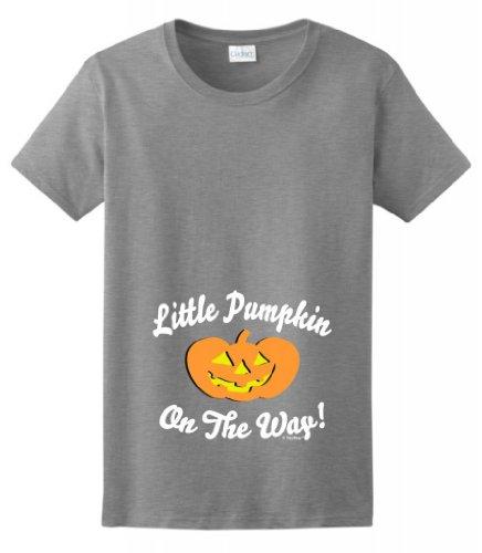 Little Pumpkin On The Way Maternity Themed Ladies T-Shirt Xl Sport Grey