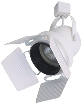 elco lighting ep823w line voltage par30 gimbal fixture with barndoors