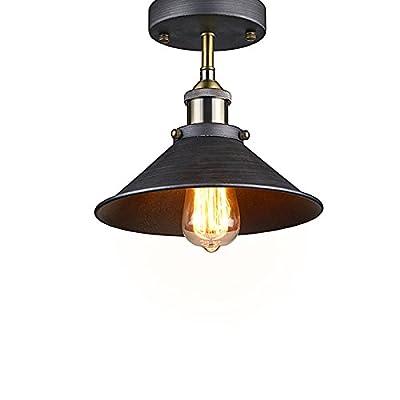 YOBO Lighting Industrial Edison Semi Flush Mount Mini Vintage Ceiling Light
