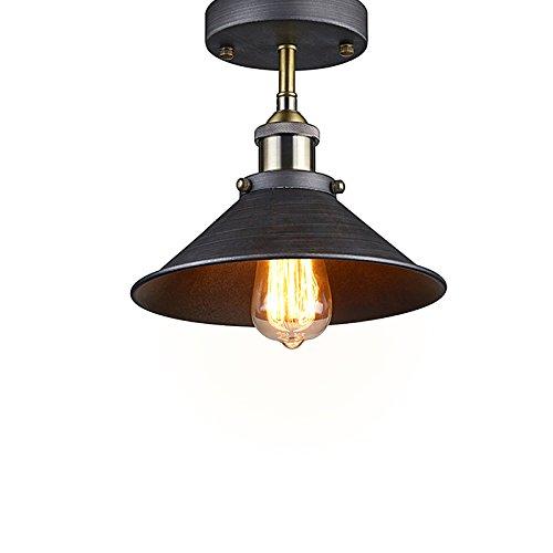 lighting industrial edison semi flush mount mini vintage ceiling light