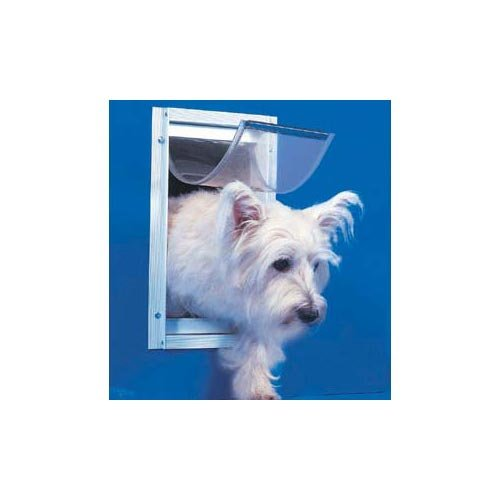"Ideal Deluxe Dog Door Small White 5"" X 7"""