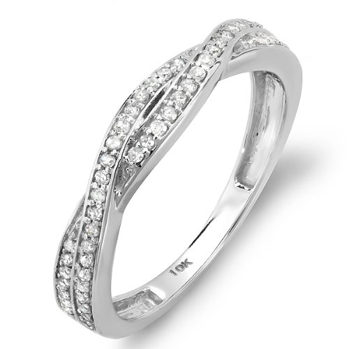 0.25 Carat (ctw) 10K White Gold Round Diamond