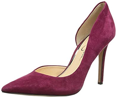 Jessica Simpson Women's Claudette D'Orsay Pump,Bava Red,8.5 M US