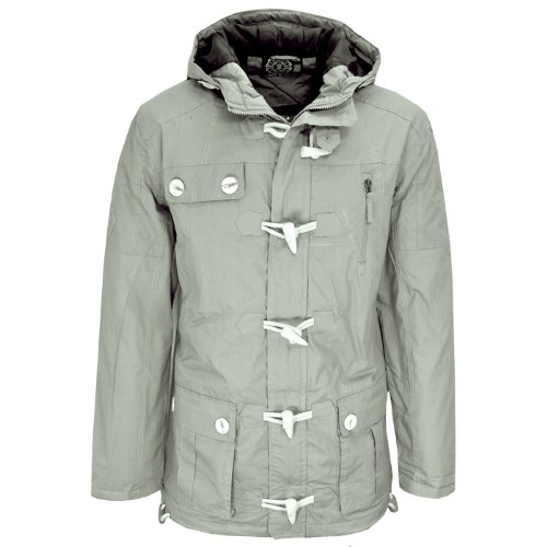 Soulstar Trial Togpad Quilted Padded Combat Winter Coat Jacket Grey Mens Size M