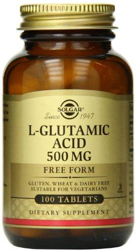 Solgar L-Glutamic Acid Tablets, 500 Mg, 100 Count