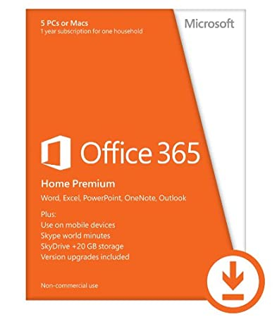 Microsoft Office 365 Home Premium 1yr Subscription [Download]