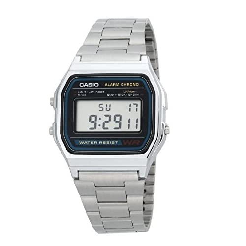 Casio Men'sA158WA-1DF Stainless Steel Digital Watch