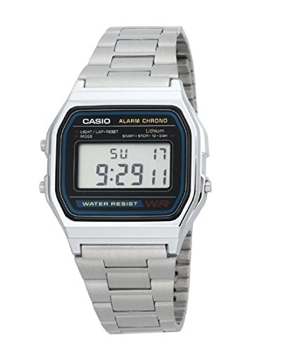 Casio Men'sA158WA-1DF Stainless Steel Digital Watch 0