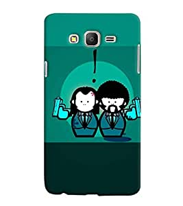 PrintVisa Cute Cartoon Gangster Couple 3D Hard Polycarbonate Designer Back Case Cover for Samsung Galaxy On 5
