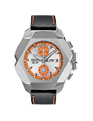 RSW Men's 4450.MS.V18.58.00 Nazca G Stainless-Steel Orange Automatic Chronograph Leather Date Watch