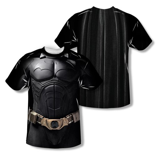 Batman Begins Superhero Action Movie Bat Costume Adult 2-Sided Print T-Shirt