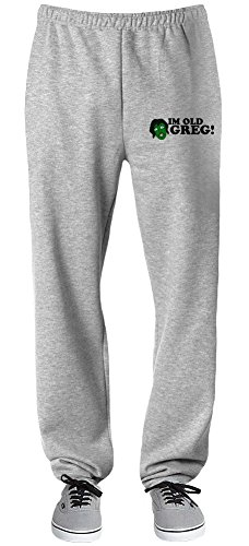 I'm Old Greg Relaxed Jersey Pants For Indoors & Outdoors Activities| 70% Cotton-30% Polyester| Super Lightweight| Premium Sportswear By Teezer Tee X-Large (Im Old Greg compare prices)