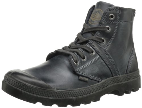 Palladium Mens Pallabrouse Lea 2 Ankle Boots Gray Grau (Shadow/Metal) Size: 13 (47 EU)
