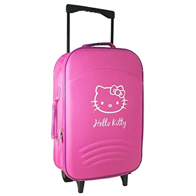 Hello Kitty Travel Flight Cabin Wheeled Trolley Suitcase Bag Hand Luggage Pink by Brennan Atkinson