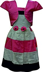 Ant Girls A-Line Dress(M-WFG-021PINK_28)