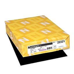 Neenah Astrobrights Premium Color Paper, 24 lb, 8.5 x 11 Inches, 500 Sheets, Eclipse Black