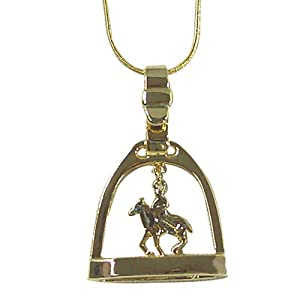 Exselle Polo Rider Gold Plate Stirrup Pendant