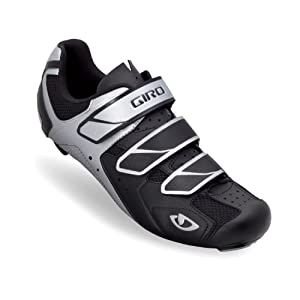 Giro 2013 Mens Treble Road Bike Shoes (Black/Silver - 42)