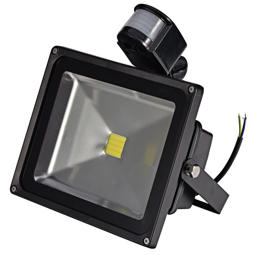 Mudder 30W Pir Infrared Motion Body Sensor White Light Led Flood Light Induction Sense Lamp Floodlight 85-265V Ip65 45Mil