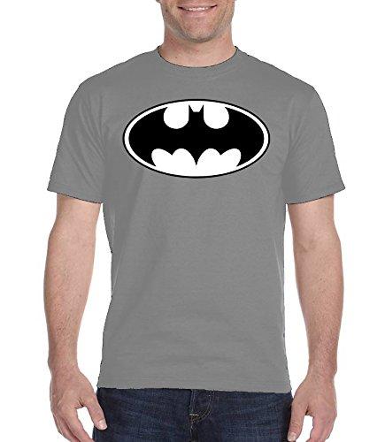 Youth Designz -  T-shirt - Collo a U  - Maniche corte  - Uomo grigio Medium