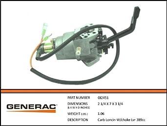 Generac - CARB LONCIN W/CHOKE LVR 389CC - 0J2451