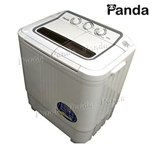Panda Small Compact Portable Washing Machine(6-7lbs Capacity) with Spin Dryer from Panda