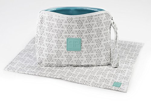 Posh Play - Luxury Diaper Clutch and Changing Pad Set - Aztec