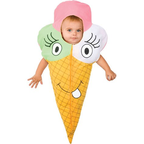 Ice Cream Cone Bunting Baby Costume - 1