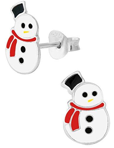 Sterling Hypoallergenic Snowman Earrings